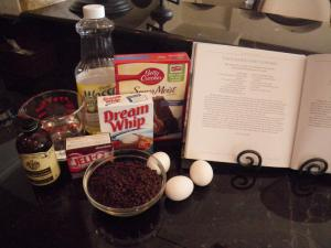 Chocolate cupcake ingredients