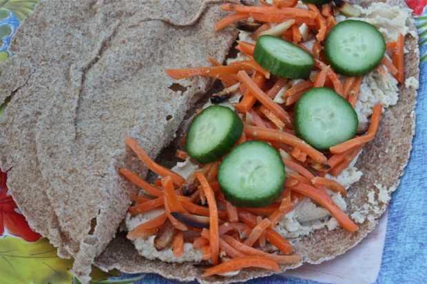 Carrot Salad on a Wrap