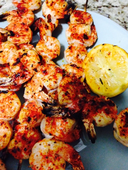 Spice Rubbed Shrimp Kabobs